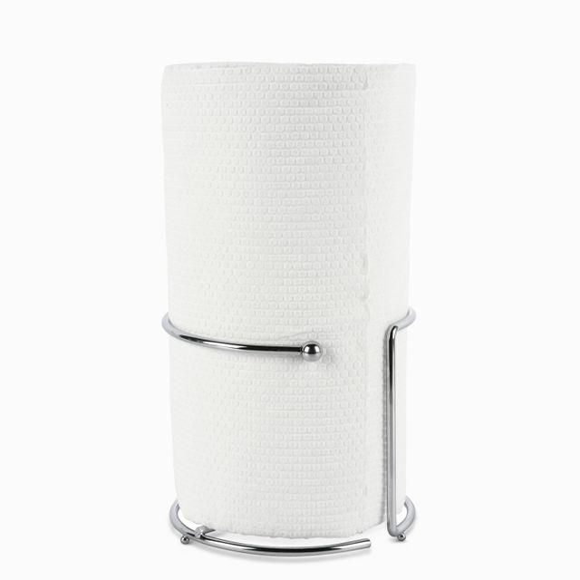 Soporte cromado para papel de cocina aro