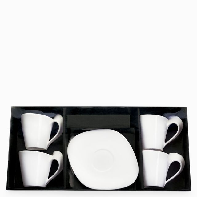 Set pocillo y plato caracol grande x 8 pcs
