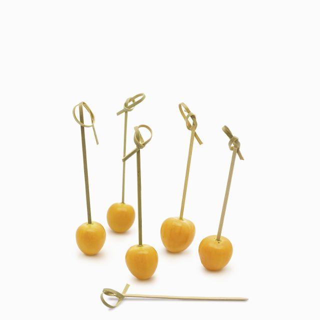 Pinchos en bambú x 100 unidades