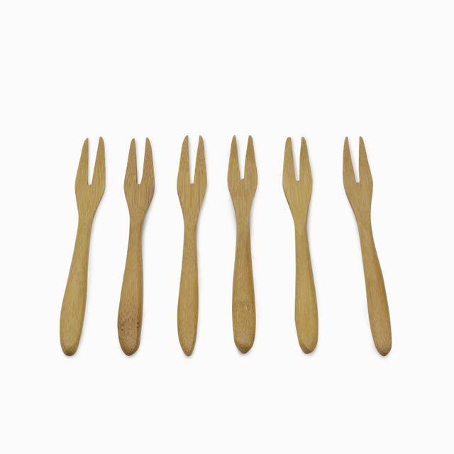 Set de tenedores en bambú