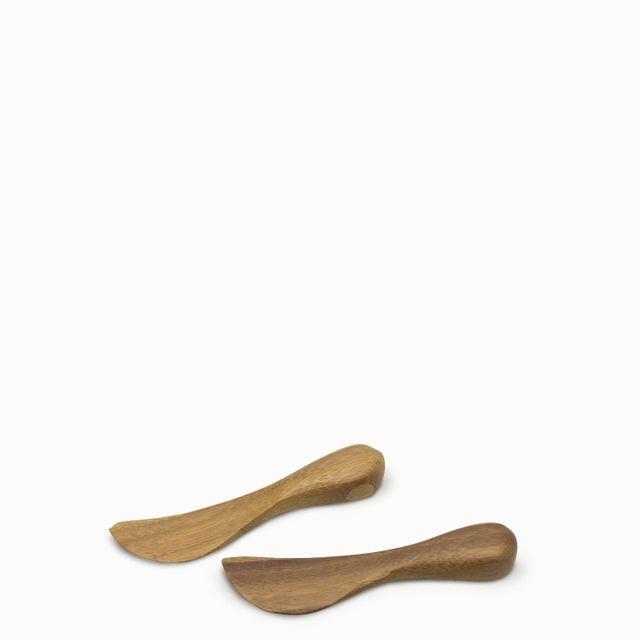 Cuchillo untar bamboo setx2