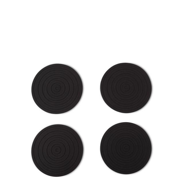Portavasos en silicona negros