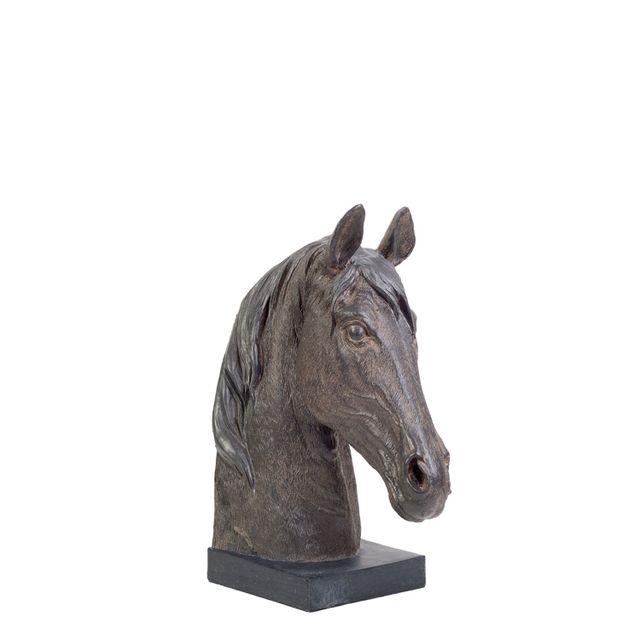 Set caballos sujetalibros 28x21x11.5cm