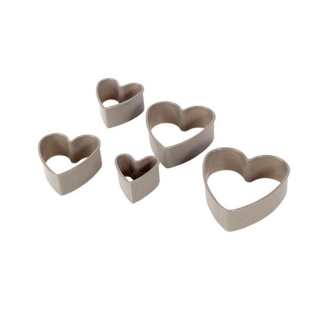 Set cortador de galletas corazon