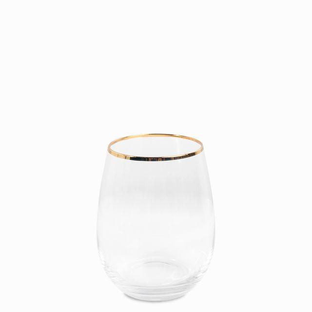 Vaso borde dorado