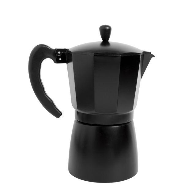 Cafetera moka 9 tazas negra