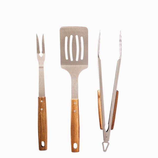 Set de utensilios para bbq acacia