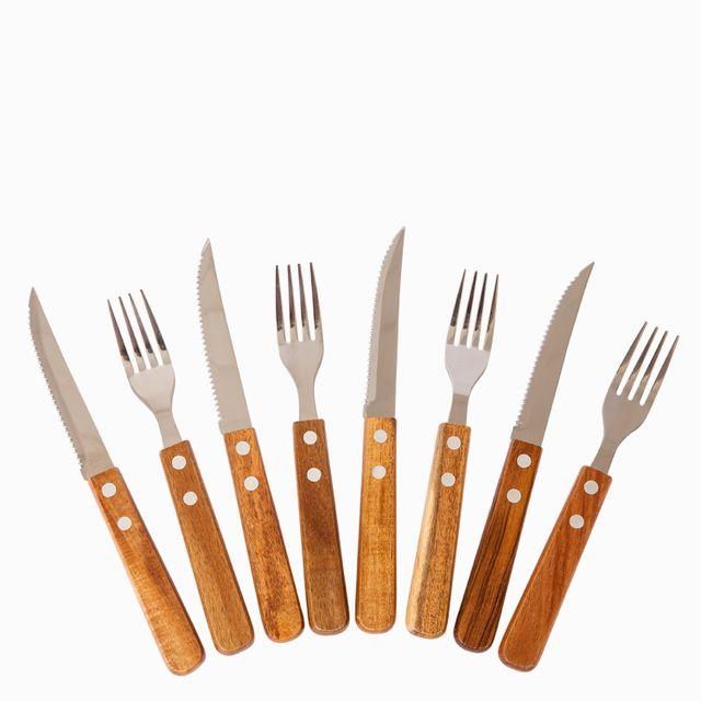 Set tenedores y cuchillos acacia