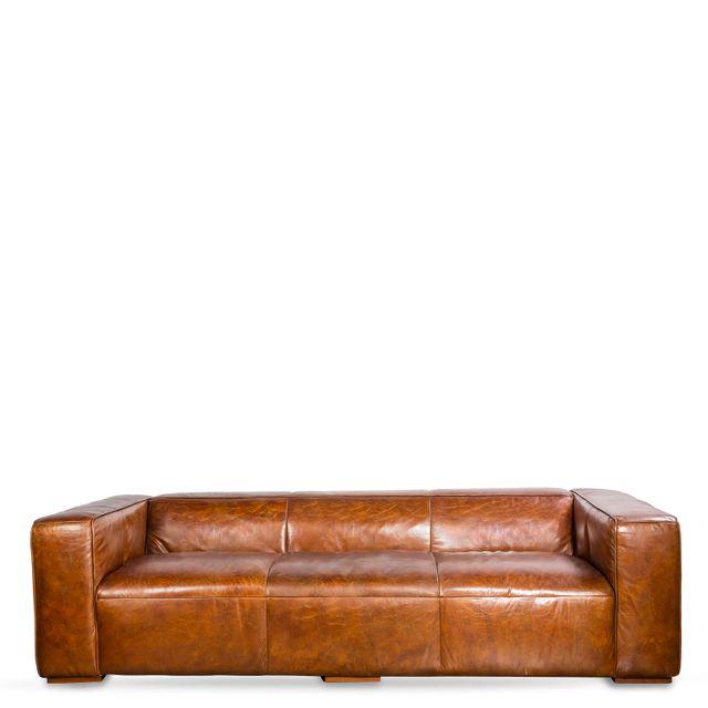 Sofa cuero 3ptos comfort miel