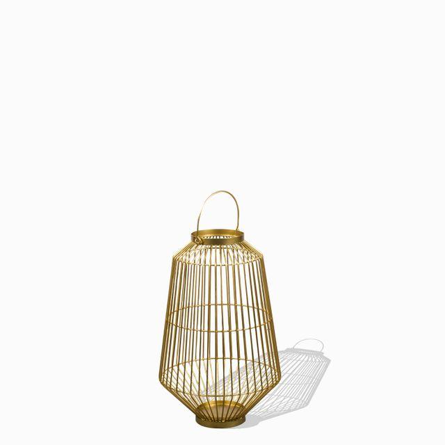 Farol metalico dorado peq 50.2x30.5