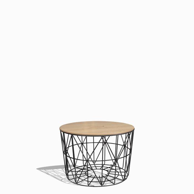 Mesa de centro origami redonda 40x60