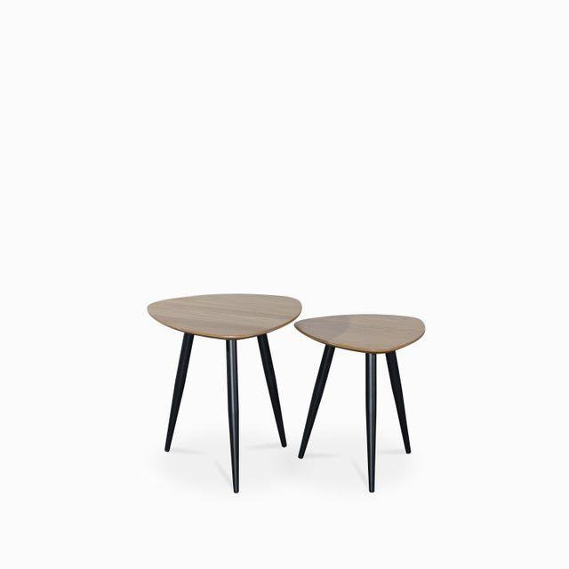 Set mesa arki madera y metal 50x50/45x40