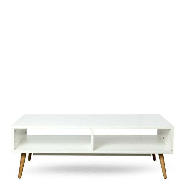 Consola century blanca mesa 40x120x60cm