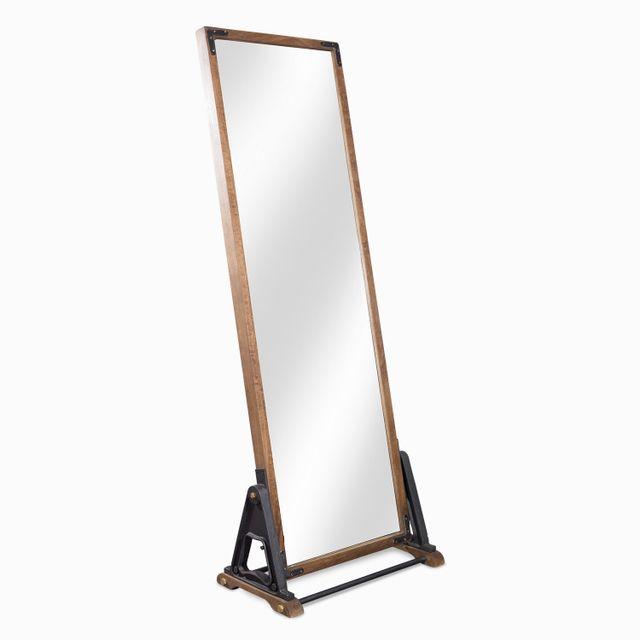 Espejo industrial madera38x71x188 cm