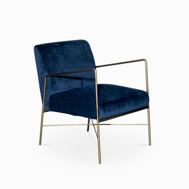 Silla iron velvet azul