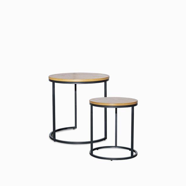 Set mesa red madera y metal 50x50-45x40
