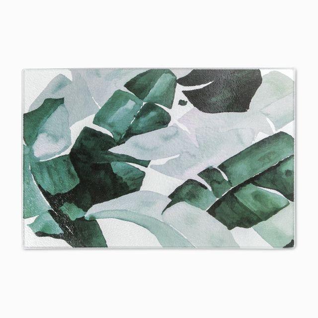 Tabla para picar en vidrio hojas