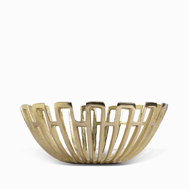 Tazon dorado perforado 34x14cm