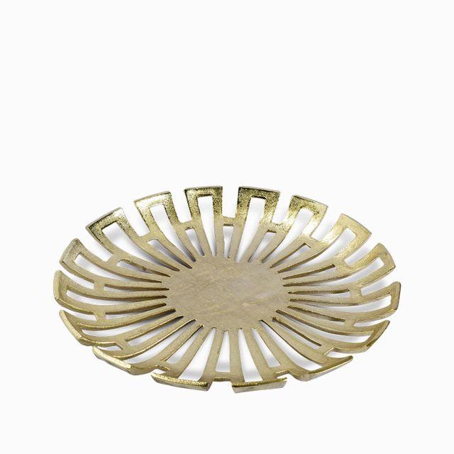 Plato dorado perforado 35.5x5cm