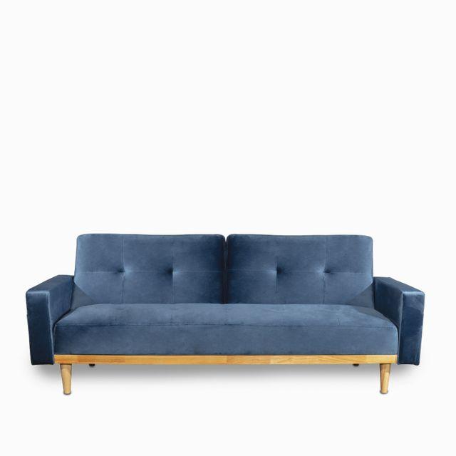 Sofacama-wood-velvet-azul-85x206x91