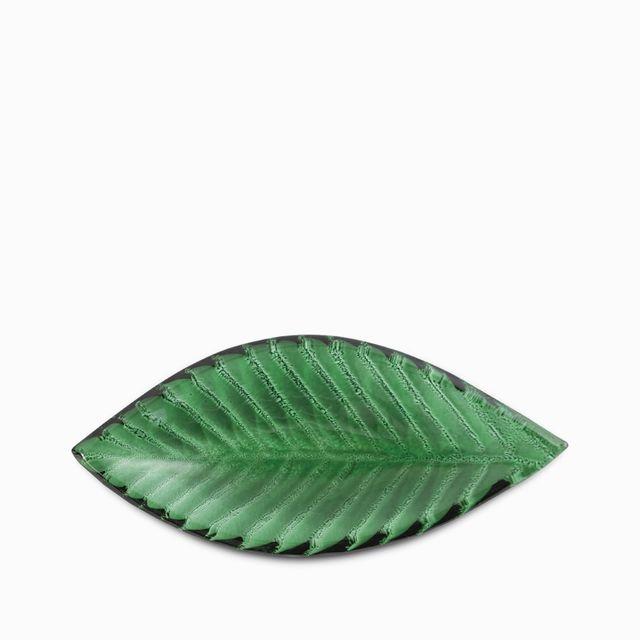 Mini plato hoja verde