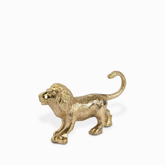 Gancho leon dorado 12x7cm