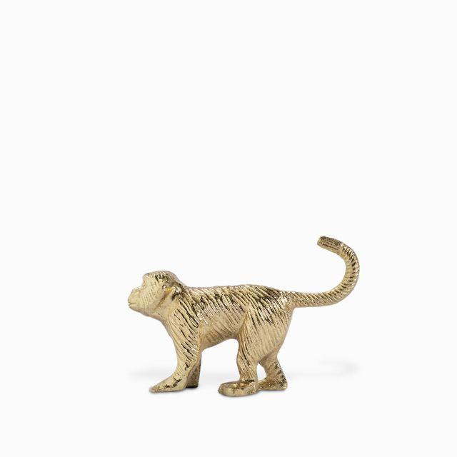 Gancho mono dorado 13.5x9cm