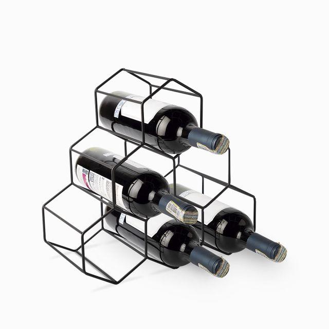 Soporte para 6 botellas de vino hexa