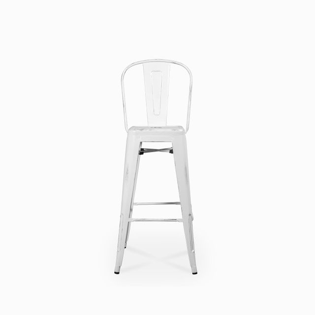 Silla bar industrial blanca