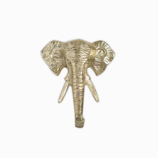 Gancho elefante dorado 13.5x5x16cm