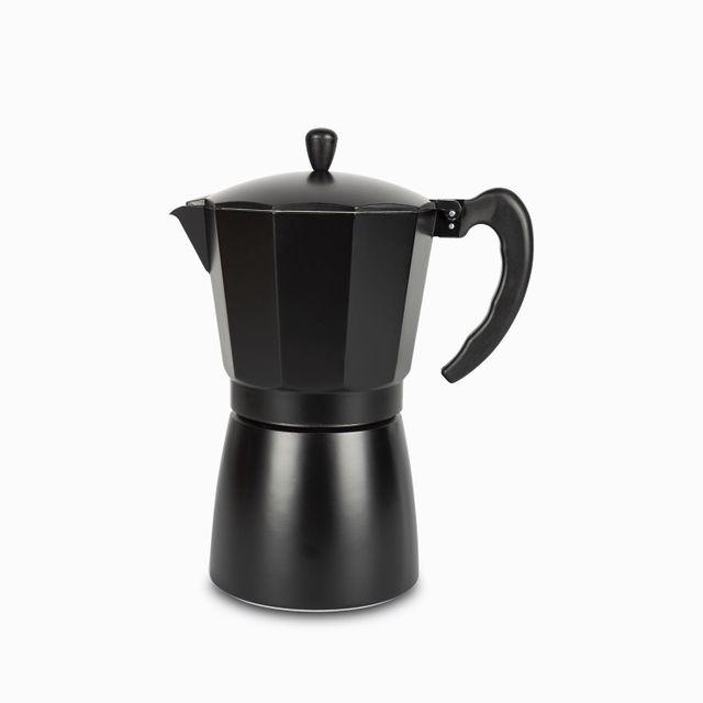Cafetera moka 12 tazas negra