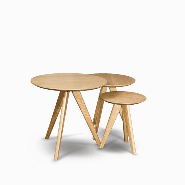 Set x tres mesas century madera