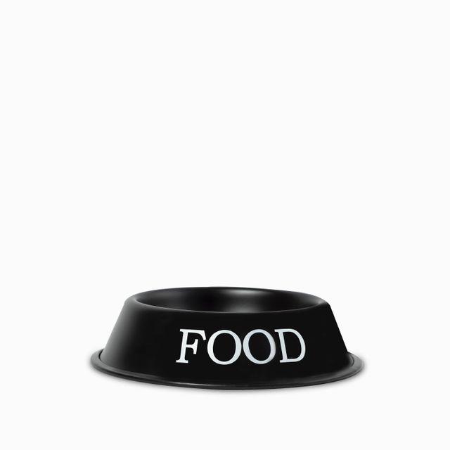 Tazon para mascotas food negro