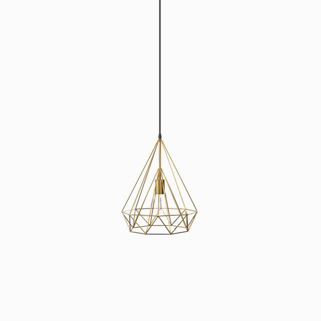 Lámpara triángulo brass