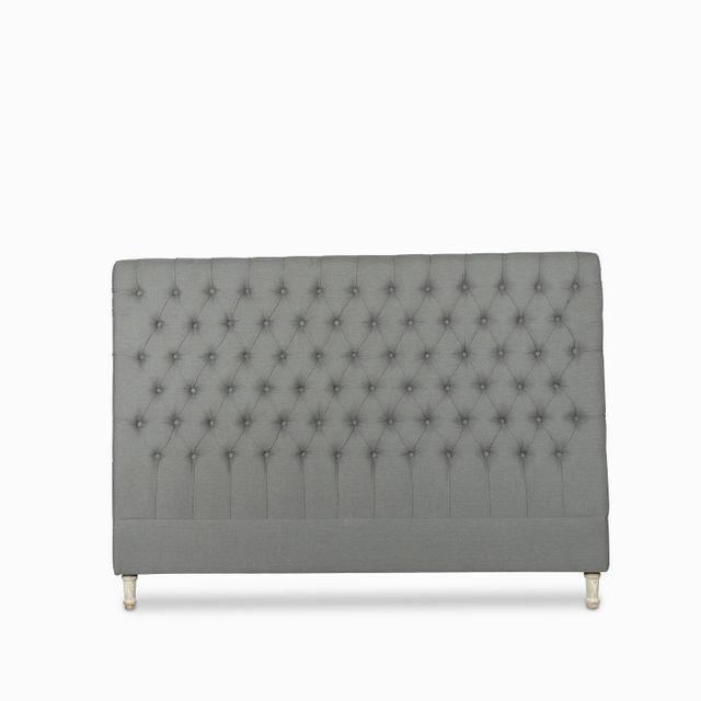 Espaldar chester king 147x203cm gris