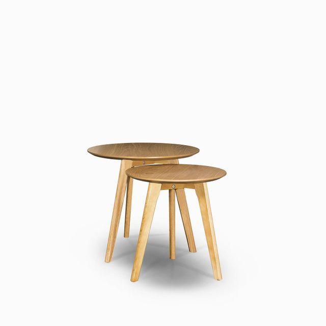 Set mesa century madera 50x50 45x40cm