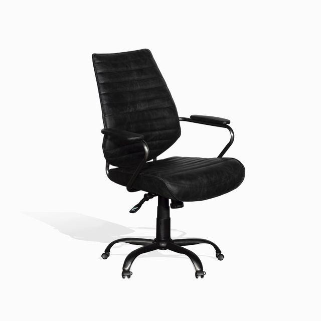 Silla cuero escritorio negra 100x65x67
