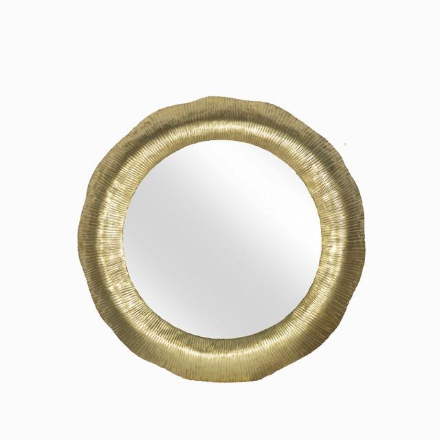 Espejo redondo dorado 71x4cm