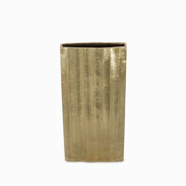 Florero rectangular dorado 31x15x7.5cm