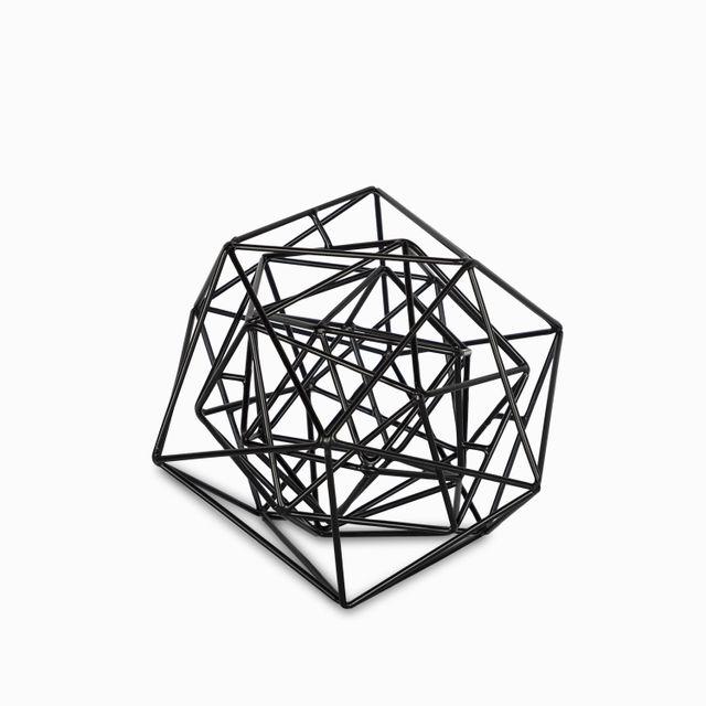 Decagono negro 17.8x21.6x21.6