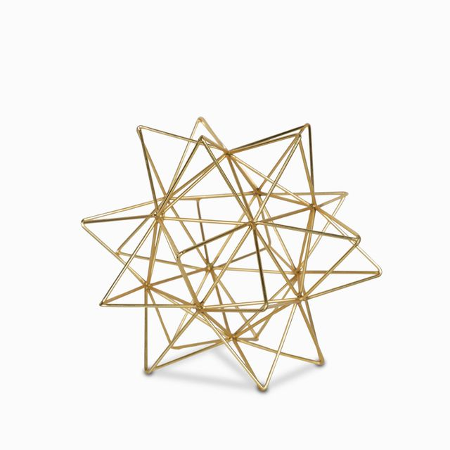 Estrella dorada 28x23cm