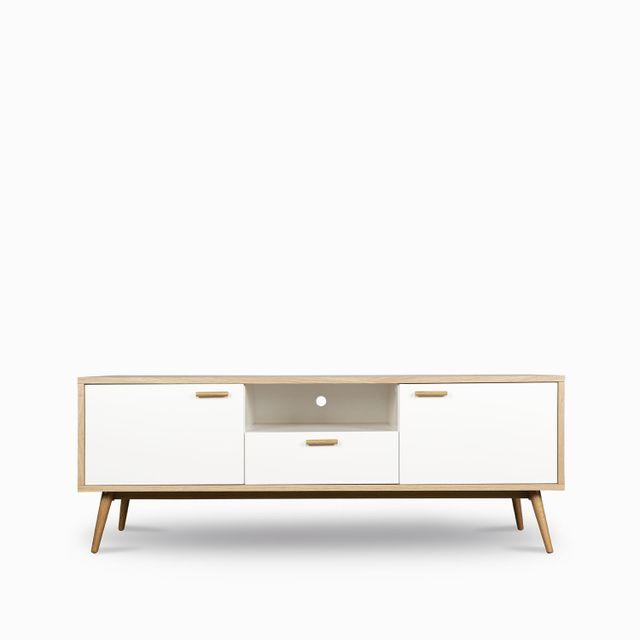 Consola massaro madera blanco 55x150x40