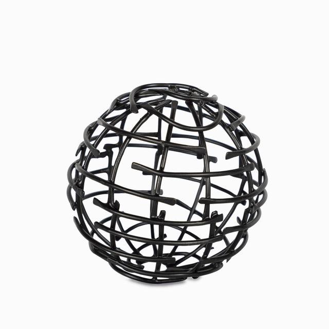 Bola lineas negra 10x10cm