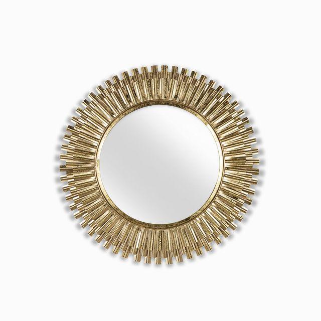 Espejo redondo lineas doradas 30x2.5cm