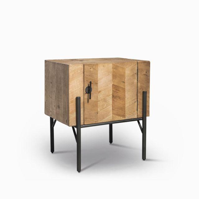 Mesa patas negras 65x60x45cm