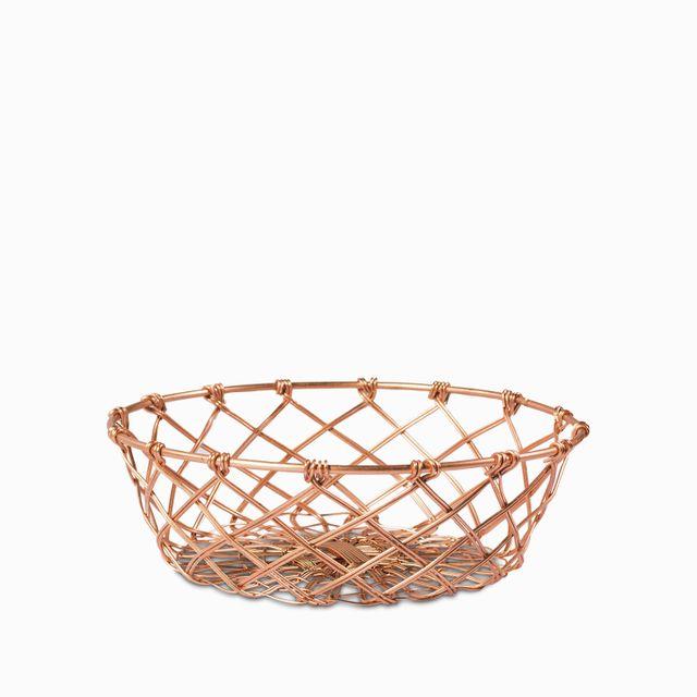 Canasta malla copper 7.6x22.9x22.9