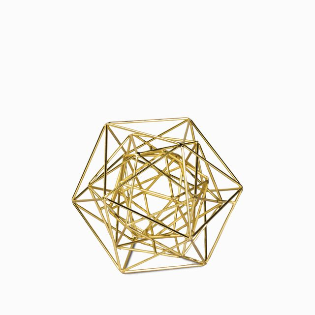 Decagono dorado 17.8x21.6x21.6