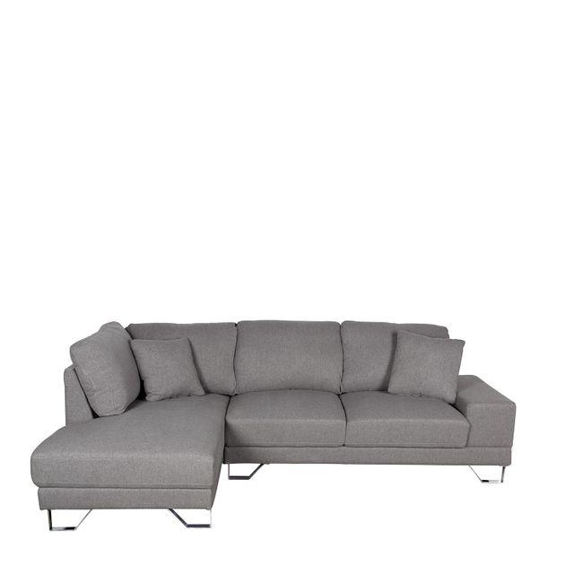 Sofa en l deco izquierdo gris