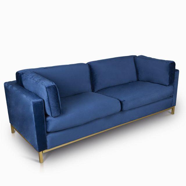 Sofa 3 ptos sorensen velvet azul