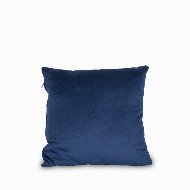 Cojin 45x45 velvet azul